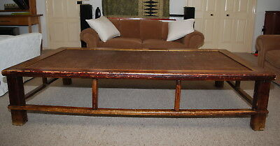Antique Chinese Coffee Table / Opium Bed / Daybed - HUGE and full of character