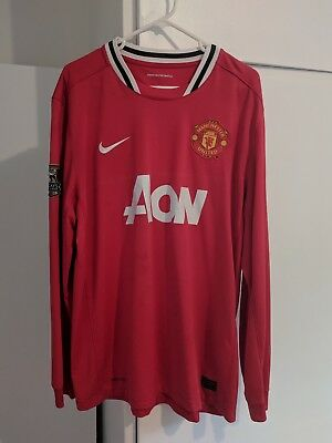 Official Manchester United Long Sleeve Home 2011/2012 Kit