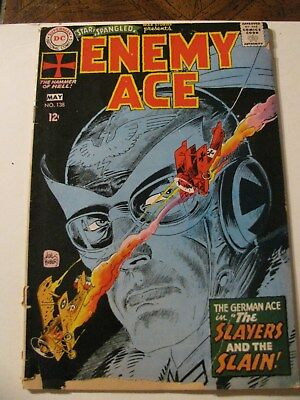 STAR SPANGLED WAR STORIES ENEMY ACE LOT Silver Age Comic Book DC 1968  KUBERT