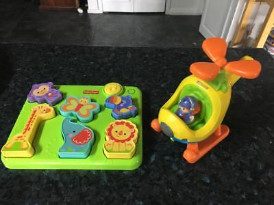 FISHER PRICE Little People HELICOPTER & FISHER PRICE SILLY SOUNDS ANIMAL PUZZLE