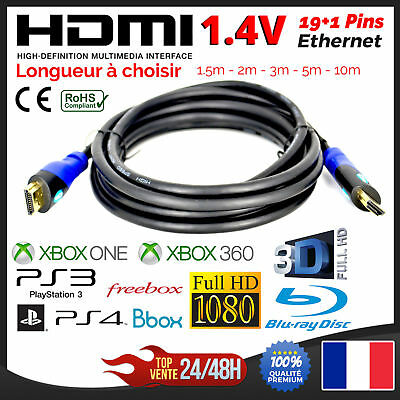 Cable HDMI Ethernet PS3 PS4 XBox HD TV 3D 1080P 1.5m 2m 3m 5m 10m 15m 20m