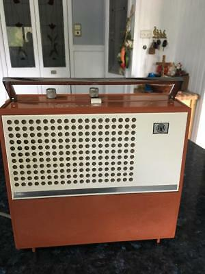 Vintage A.wa /radiola Portablerecord Player - Collectable - Working
