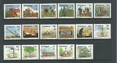 1995 Zimbabwe Culture Set of 17 stamps Complete  MUH Value Here