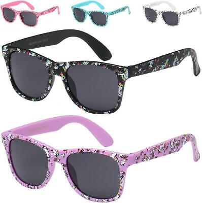 Unicorn Designer Childrens Sunglasses Kids Boys Girls Retro Vintage Uv400