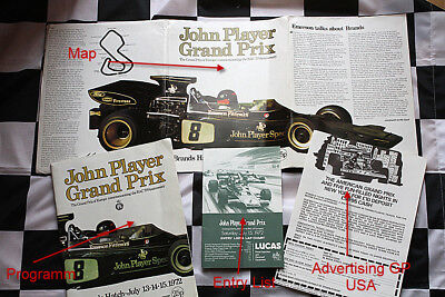 John Player Grand Prix 1972 Brands Hatch Programm Fittipaldi Lotus 72