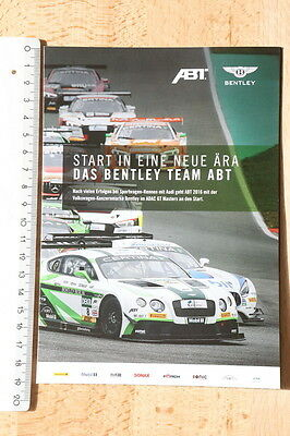 Bentley Team Abt - Media Info - Teamvorstellung  ADAC GT Masters