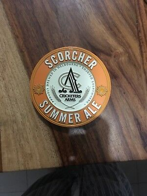Cricketers Arms Scorcher Summer Ale Beer Tap Badge