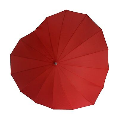 Soake Boutique Heart Shape Long Umbrella (Red)