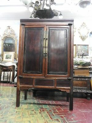 Beautiful Antique Closet Two Panels Chinese Period Furniture Orient Period