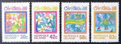 1988 Norfolk Island Stamps - Christmas - Set of 4 MNH