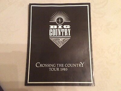 VERY RARE Big Country 1983 'Crossing The Country' Tour Programme. Great price!