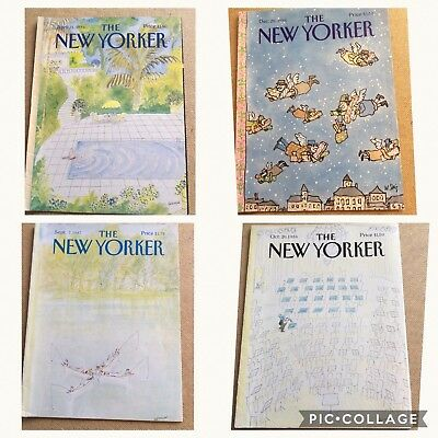 4  x  Original 1986/87 The New Yorker Magazines - COVERS ONLY - Sempe