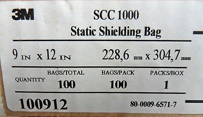 """Box of 100 3M ESD Anti-Static Shielding Bags 9"""" x 12"""" Open-Top Free US Shipping"""