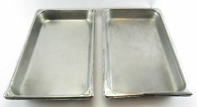 "Lot 2 Full Size 20' x 12"" GN 1/1 Stainless Steel Steam Table Food Pan 11484"