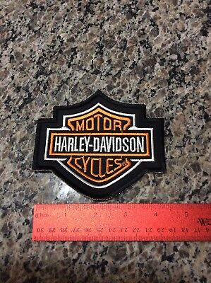 Harley Davidson Motor Cycles Stitched On Patch
