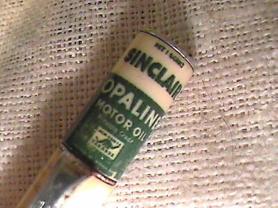 Vintage Adv Sinclair (Dino) Opaline Motor Oil Can Topper Mechanical Pencil !!