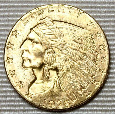 1926 $2.50 Indian Head Gold Coin Quarter Eagle * Uncirculated Beauty * FREE SHIP