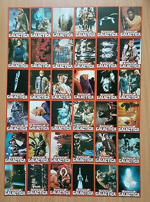 Battlestar Galactica Set of 36 Cards from 1978 Free P&P to UK