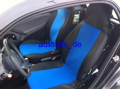 Fodere Coprisedili Blu-Nero per Smart Fortwo For Two 450 451 452