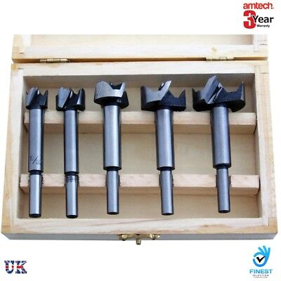 5pc Forstner Drill Bit Set Kitchen Cupboard Door Hinge15mm 20mm 25mm 30mm 35mm