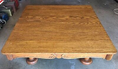 "Antique Oak Table 42"" x 42"" x 13"" Dining / Coffee / Living Room -Nice Condition!"