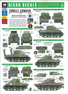 Bison Decals 35001 - Jungle Armour - British and Indian Army Shermans - 1/35