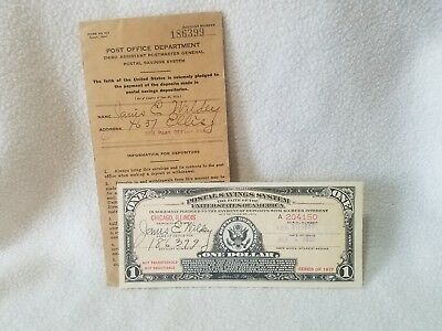Chicago $1 Postal Savings System 1935 Series 1917 Great Condition