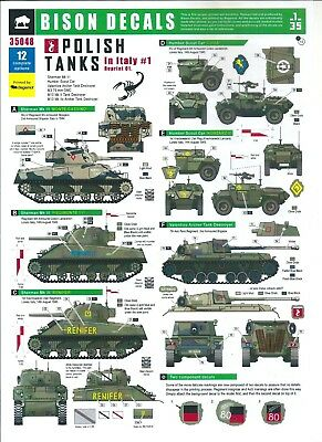 Bison Decals 35048 - Polish Tanks in Italy #1 - 1/35