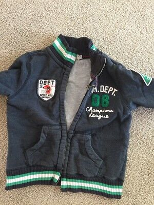 Double B Mikihouse Boys Biker Jacket Size 2-3 Made In Japan