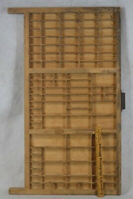 antique type tray drawer print wooden hang cabinet cubbies