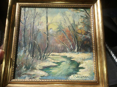 1946 CORA CUTTER WELLMAN signed  oil painting Cape Ann, MA Gloucester Maritime