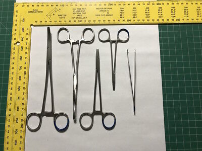 Set of forceps/haemostats for doll & toy making - for turning sewing/ITH