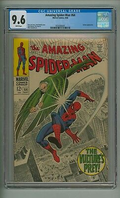 Amazing Spider-Man 64 (CGC 9.6) White pages; Vulture appearance; 1968 (c#17586)