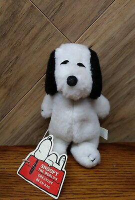 """Vintage 1958 peanuts Snoopy bean bag  Butterfly originals united feature 6-1/2"""""""