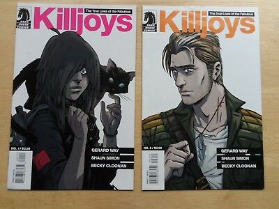 THE TRUE LIVES of the FABULOUS KILLJOYS #1 + 2 - 1st Prints (Dark Horse)