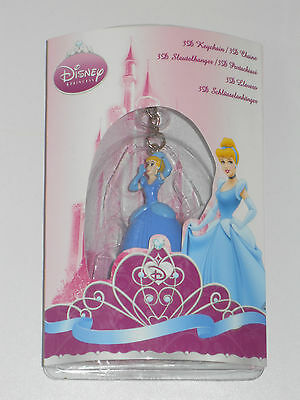Disney Cinderella 3D plastic Keyring Key Chain Brand New great gift in packet