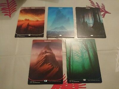 magic the gathering mtg - Complete set of Full Art Land from the Unstable Set b)