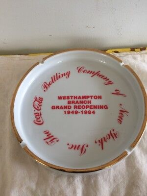The Coca Cola Bottling of New York Inc Westhampton Grand Reopening 1984 ASHTRAY