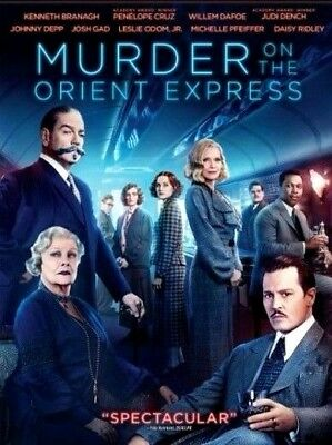 Murder on the Orient Express (DVD, 2018) NEW* Drama*PRE-ORDER SHIPS ON 02/28/18