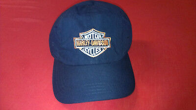 Harley Davidson Embroidered Blue Cap NEW