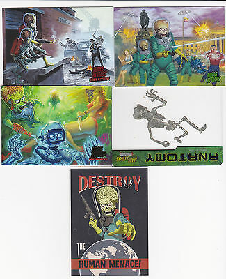 2013 Mars Attacks Invasion 116 master set 1-95 + 4 insert sets