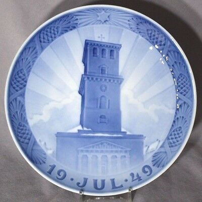 ROYAL COPENHAGEN 1949 Christmas Plate – Cathedral Church of Our Lady, Copenhagen