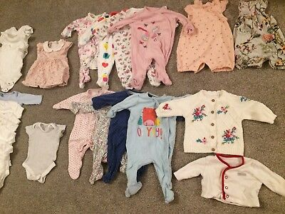 Baby Girls Newborn Up To 1 Month Bundle Next Mothercare Clothing Winter Spring
