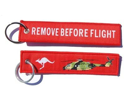 Australian MRH 90 Helicopter Remove Before Flight Key Ring Luggage Tag