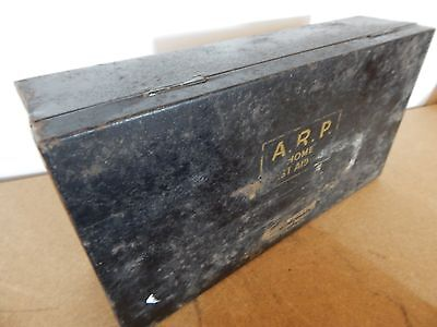 WW2 A.R.P home first Aid Tin with internal lid label ,empty tin BY Boots notts