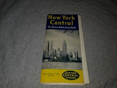 New York Central Railroad-December 12, 1954 Timetables