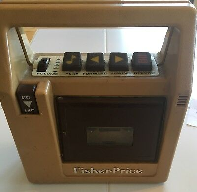 Vintage Old Toy 1980 Fisher Price Tape Recoder cassette Player retro 826