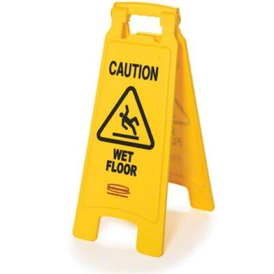 Rubbermaid 611277 Yellow Wet Floor Sign