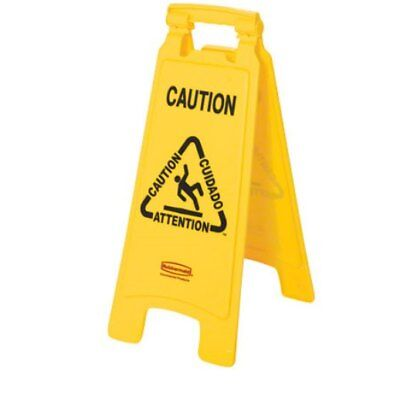 Rubbermaid 6112 Yellow Wet Floor Sign