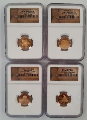 2009-s 4 Piece Proof Lincoln 1c Set NGC PF69 RED ULTRA CAMEO      L1145